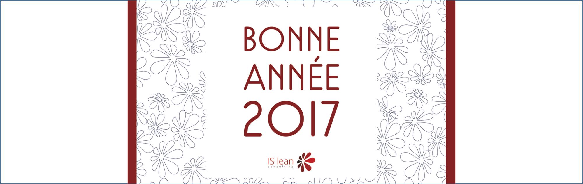 Bonne année 2017 par ISlean cconsulting