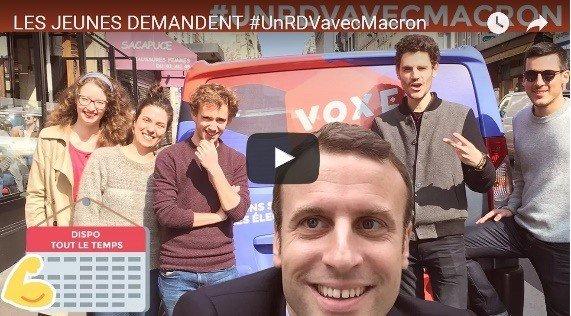 #UnRDVavecMacron de Voxe.org