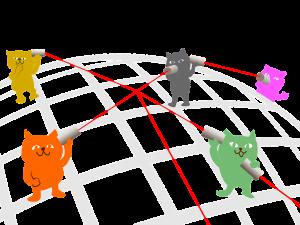 Réseau de chats figurant la mise en ligne des formations et des MOOC