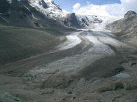 Recul d'un glacier suite au réchauffement climatique